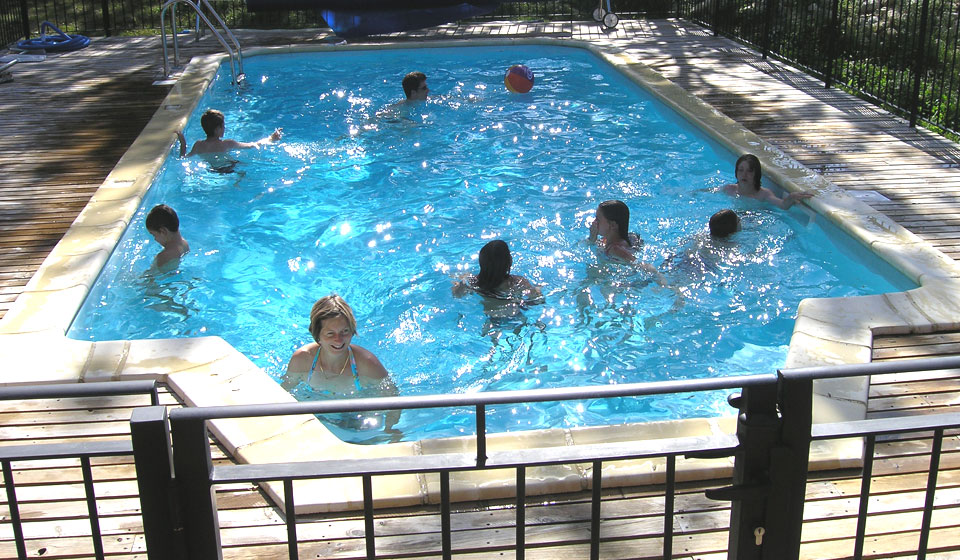 the pool, open to all campers