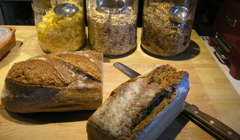 organic breads and cereals