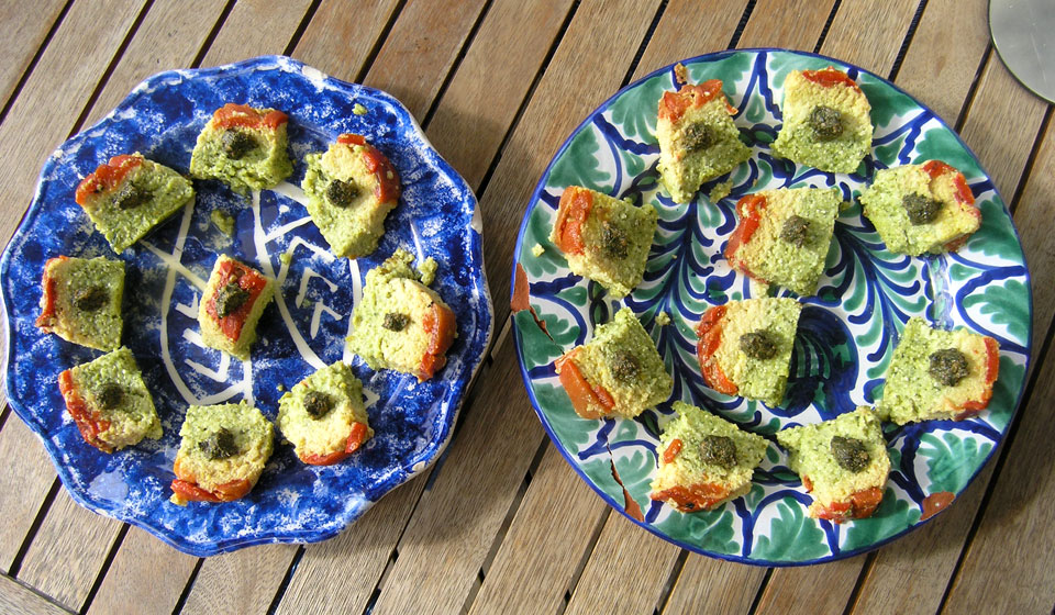 vegetable paté with courgettes